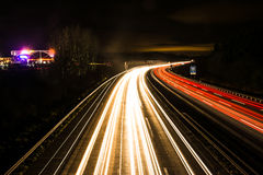 Light Trails on the Highway Royalty Free Stock Photography