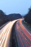 Light trails. On a highway in Germany Royalty Free Stock Photography