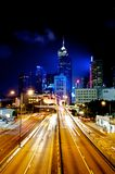 Light Trails in Hong Kong Royalty Free Stock Photo