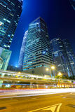 Light trails in Hong Kong Royalty Free Stock Photography