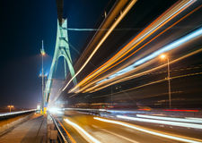 The light trails in Kiev Stock Images