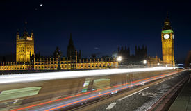 Light trails in london Stock Photography