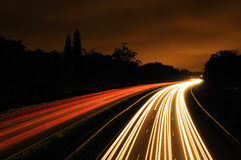 Light Trails long exposure Stock Images