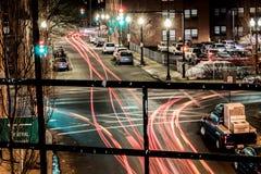 Light trails lynn Massachusetts Stock Photo