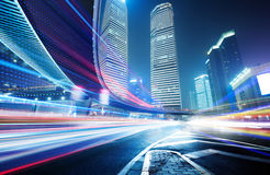 The light trails Stock Images