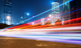 The light trails Stock Image