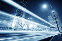 The light trails Royalty Free Stock Image