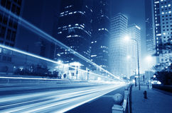 The light trails Royalty Free Stock Photos