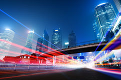 The light trails Royalty Free Stock Photography