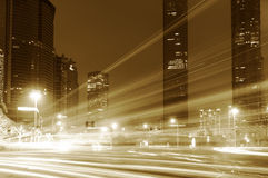 The light trails Royalty Free Stock Images