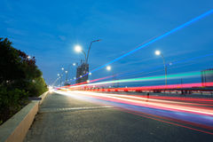 The light trails Stock Photos