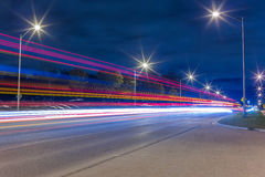 Light trails at night Royalty Free Stock Photo
