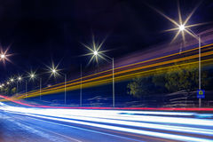 Light trails at night Royalty Free Stock Photography