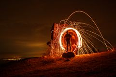 Light trails effects stock photos
