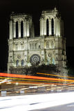 Light trails in paris Stock Images