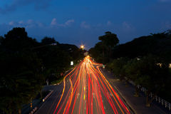 Light Trails on the Road Royalty Free Stock Photography