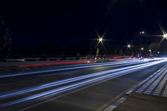 Light Trails on the Road Royalty Free Stock Photo