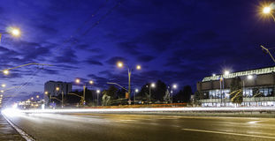 Light trails at the rush hour Royalty Free Stock Photography