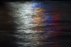 Light Trails in The Sea Surface royalty free stock photo