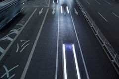 The light trails on the steet Royalty Free Stock Images