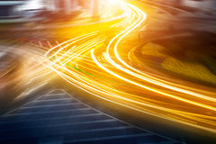 The light trails on the steet Royalty Free Stock Photography
