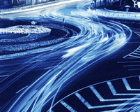Light trails on the steet Stock Photos
