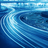 Light trails on the street. In shanghai ,China Stock Photography