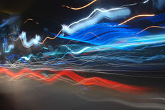 The light trails on the street Stock Photos