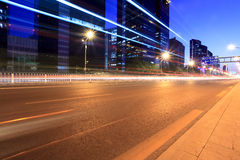 The light trails on the street in beijing Royalty Free Stock Images