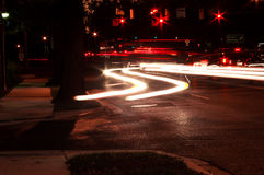 Light trails of traffic Stock Image