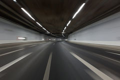 Light trails in tunnel Royalty Free Stock Image