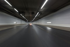 Light trails in tunnel Stock Image