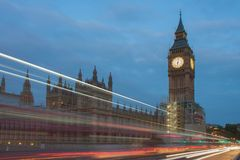 Westminster bridge, Big Ben in the morning Royalty Free Stock Photography