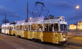 Light tram in Budapest royalty free stock photo