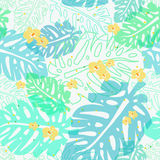 Light tropical pattern Royalty Free Stock Photography