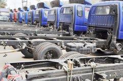 light trucks in row Stock Photo
