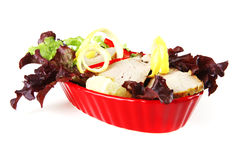 Light tuna served on bowl Royalty Free Stock Images