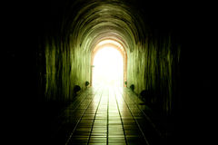 Light at Tunnel Royalty Free Stock Photography