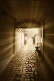 Light in the tunnel Royalty Free Stock Images