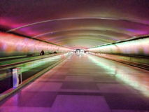 Light Tunnel, Detroit International Airport Royalty Free Stock Photo