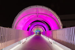 Light tunnel at night, Japan Stock Images