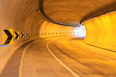 Light tunnel and pointing curve in Royalty Free Stock Images