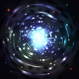 Light tunnel or whirl vortex vector illustration Royalty Free Stock Photos