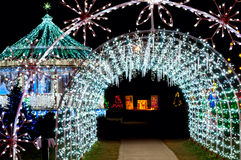 Light tunnel Xmas Royalty Free Stock Images