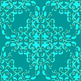 Light turquoise elegance paisley seamless pattern. Vector orname. Ntal monochrome background. Floral damask ornament. Oriental style ethnic design. Beautiful Stock Photos