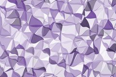 Ultra violet polygonal abstract background. Low poly crystal pattern. Design with triangle shapes. Stock Images