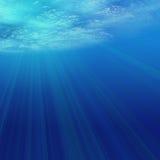 Light Underwater. Sunlight shining through the water Royalty Free Stock Photo