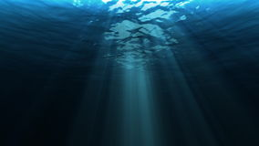 Light underwater,video 4K stock footage