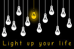 Light up life. Becoming more optimistic and hopeful and lighting up your life Stock Photography
