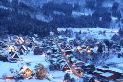 Light up of Shirakawago Stock Images